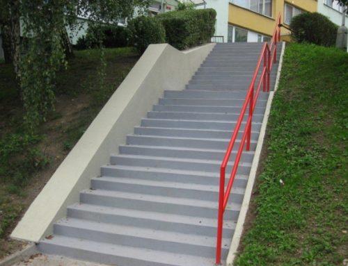 Oprava schodiště – Nevanova-Šímova